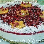 Gâteau à la noix de coco et aux fruits exotiques