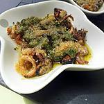 Coquilles de fruit de mer gratinés au beurre d'escargot