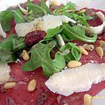 recette carpaccio de boeuf à l'italienne