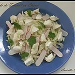 Salade fenouil et chèvre