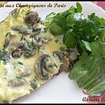 recette Omelette au champignons