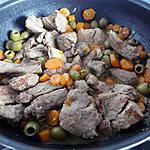 recette Sauté aux carottes et aux olives