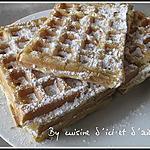 recette Gaufres au pastis