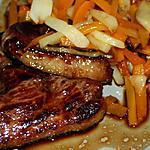 recette Magret de canard au miel et ses petits légumes