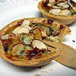 recette Mini tartelettes aux moules, bleu et amandes
