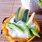 recette Paniers de légumes et mousse de Boursin