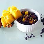 recette Riz au lait chocolaté, mangue et passion