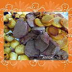 Filet de chevreuil ,  pommes de terre noisette et daïkon