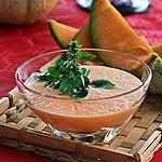 recette Gaspacho de melon au basilic, citron et vinaigre balsamique