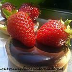 recette tartelette au chocolat et aux fraises