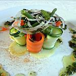 Jardinière de légumes pesto de coriandre