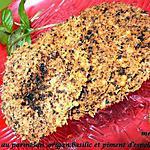 recette Chips au parmesan ,origan,basilic et piment d'espellette