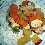 wok party : recette riz au poulet ananas curry