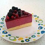 recette Bavarois aux fruits rouges ( recette prise à chevrefeuille14 )