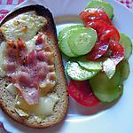 recette Tartine du bistrot au cantal