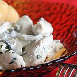 recette Poulet à la moutarde, à l'estragon & aux champignons