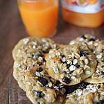 recette Cookies aux flocons d'avoine & au chocolat