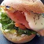 recette Hamburger brioché au saumon mozarella
