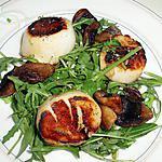 recette Salade de pousses de roquette aux coquilles St Jacques