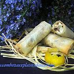 recette Nem de brick poulet feta et champignons