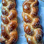 """recette pain Brioché tréssé """"Hallat"""""""