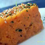 écrasée de patate douce aux graines de sésames