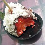 Sucettes de fraises enrobés de chocolat et noix de coco