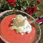 Velouté de fraises et sa chantilly au nougat