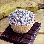 recette Muffins à la banane nappage chocolat-coco