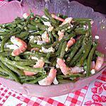 Salade de haricots verts aux crevettes