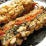 recette Pain de saumon et féta aux légumes et aux flocons d'avoine