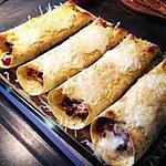 recette Burritos Gratinés au Boeuf et aux Poivrons