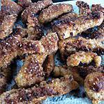 recette Émincés de dinde aux sésames et aux épices (c la salsa du démon)