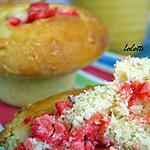 recette Briochettes aux pralines roses et à la crème de calisson
