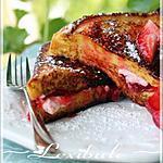 recette Pain doré farci aux fraises