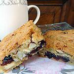 recette Blondies aux cranberries , amandes et chocolat blanc