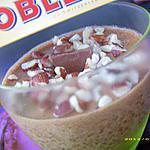 recette mousse au toblerone et aux éclats de noisettes