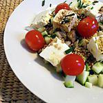 recette Salade minute courgettes, féta et tomates
