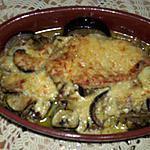 recette escalopes de dinde gratinées au comté poêlée d'aubergine et de courgette(recette de cyril lignac)