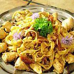 recette tagliatelles poulet,pesto et tomates séchées