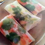 Rouleaux de printemps crabe saumon et avocat