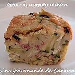 recette Gâteau de courgettes et chèvre