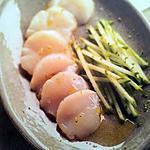 Sashimi de saint jacques et pommes au citron