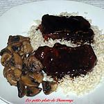 recette Côtelettes de porc sauce chinoise