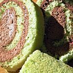 recette Roulé au mascarpone au chocolat et pandan (pandan rôle)