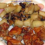 Hauts de cuisses bar-b-q et légumes