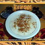 recette RIZ AU LAIT ESPAGNOL (ARROZ CON LECHE) recette familiale