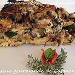 recette Quiche aux courgettes et aux champignons