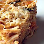 recette Cake spaghettis à l'Italienne