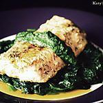 recette Saumon épicé à la mangue sur son lit d'épines vertes
